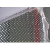 China Corrosion Resistance 1220 X 2440mm Aluminum Checkered Plate With Five Bars 5052 wholesale