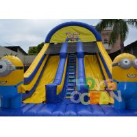 China 8 X 4.5 X 6.5m Inflatable Slide / Minion Madness Inflatable Water Slide wholesale