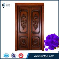 China leffeck high end 100% plain wood double doors - Custom Made wholesale