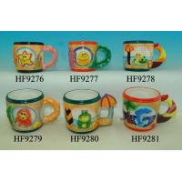 China Dolphin Custom Ceramic Mugs With Beach Umbrella Handle 8.5 X 12 X 9 Cm wholesale