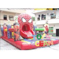 China Funny Outdoor Kids Inflatable Playground Customized With Spider Man wholesale