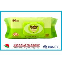 China Non Irritating Chamomile / Aloe Vera Skin Care Baby Wet Wipes for Face , 80 Sheets wholesale
