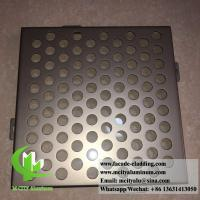 China Perforated Aluminum panels for building skin facade cladding PVDF metallic color wholesale