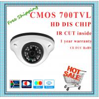 Quality 700TVL Color CMOS camera with IR-CUT weatherproof Dome security surveillance for sale