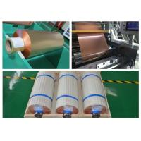 China 99.95% Purity Soft Copper Foil Roll / Strip Double Sided Light SGS Approval wholesale
