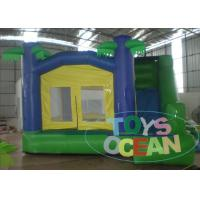 China CE Blue / Green Jungle Inflatable Bouncer Jumping Bouncy Castle For Kids wholesale