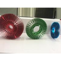 China Red Anodized Aluminum Sunflower Radiator Led Cylindrical Heat Sink for Tracking Light wholesale