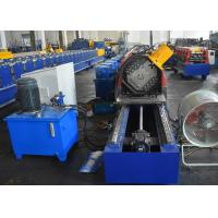 China Storage Rack Vertical Post Section Roll Forming Machine With Punching Unit For Various Patterns on sale