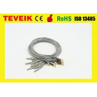 Wholesale flexible soft EEG electrodes TPU cable EEG cable with gold plated copper cup for EEG/EMG/PSG systems from china suppliers