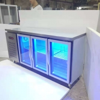 China Smooth Surface 300W 3 Door Under Counter Chiller on sale