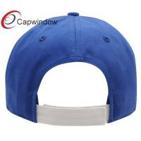 Quality Blue Heavy Brushed Team Cotton Baseball Caps Golf Cap With Velcro Closure for sale