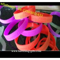 China 100%Silicone Material and Artificial Style miansai silicone bracelet /wristband wholesale