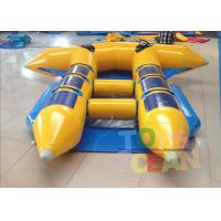 China Yellow Waterproof Inflatable Water Toys Towable Flyfish For  6 Persons wholesale