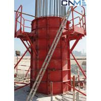 China High Stiffness Circular Column Formwork Systems Channel Steel Material Red Color wholesale