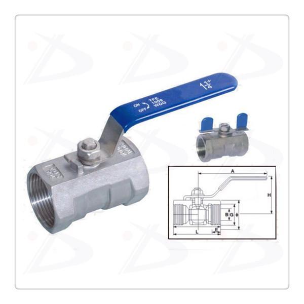 1 pc stainless steel ball valve