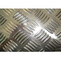 China 0 . 8mm - 5mm five bars embossed aluminum sheet for car parts or building wholesale