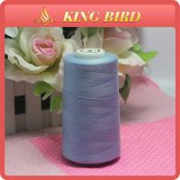 China Shiny Blue Low Elongation Sewing Machine Embroidery Thread 50s/2 For Knitting wholesale