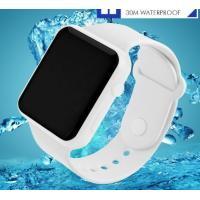 Quality Fashion Simple Cool Colorful Boys and Girls Led Creative Wrist Watch WR 30M PU for sale