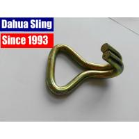 China 2 inch 5 ton Cargo Lashing Ratchet Strap Hooks , doule J hook tie down wire wholesale