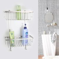 China Durability Double Layers Stainless Steel Shower Basket Wall Mounted wholesale