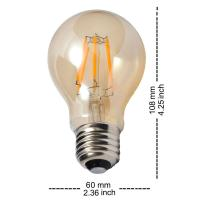 Quality Antique Old Style Led Filament Bulb , Gold Tinted Dimmable LED Light Bulb A19 / for sale