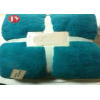 China Custom Sherpa Polyester Fleece Blanket With Multiple Colors Eco - Friendly wholesale