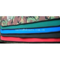 China Good flexibility Red / green / black neoprene fabric Roll with polyester coating wholesale