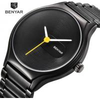 China BENYAR Cool Black Fashion 316L Steel Couple Quartz Wrist Watches Lovers Watch BY-5119 wholesale