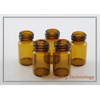 China 5.5ml high quality amber tubular glass bottle with double screw neck , D20mm×H38mm wholesale