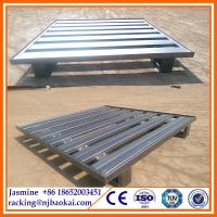 China Stackable Powder Coated Warehouse Pallets Steel Metal Pallet wholesale