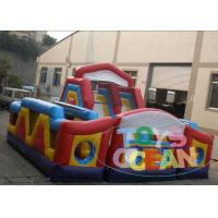 China Durable PVC Children Inflatable Bounce House With Slide / free repair kit wholesale