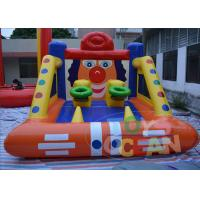 China EN14960 Sport Training Shootout Inflatable Basketball Game With Clown Face wholesale
