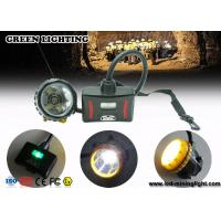 China 28000lux Superbright LED Two Charging Way IP68 Miners Cap Lamp with Warning Lights wholesale