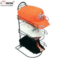China Merchandising Baseball Caps Table Top Display Stands 3 - Layer Metal Material wholesale