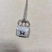 China  full diamonds of bag necklace 18kt gold  with white gold or yellow gold wholesale