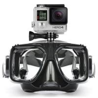 China Waterproof Scuba Diving Mask Customized Logo With Camera Gopro LM5352 wholesale