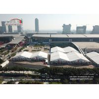 Quality 50m Span Width Aluminum PVC Structure Outdoor Exhibition Tents Canton Fair Trade Show for sale