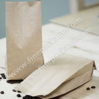 China craft paper side gusset coffee bean packaging bags with valve wholesale