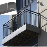 China Outdoor Aluminum Hand Railings For stairs , exterior hand railings wholesale