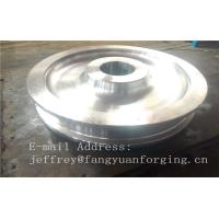 Quality 4140 42CrMo4 SCM440 Alloy Steel Rail Forged Wheel Blanks Quenching And Tempering Finish Machining Mine Industry for sale
