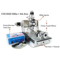 Buy cheap 4 Axis Z Axis Travel 90mm Mini 30*20mm CNC Router Drilling Milling Machine 3D CNC Router from wholesalers