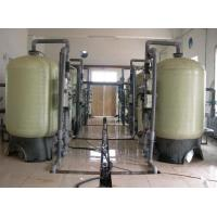 China 0.6Mpa FRP Water Softener System , 2000 L/H Automatic Control Water Softener Plant wholesale
