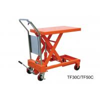 China Heavy Duty Hand Lift Table With Safety Wedge Block , Convenient Maintenance wholesale
