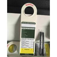 Buy cheap Safety PVC / ABS Plastic Scaffolding Tag Holder For Lockout Tags Inserrt from wholesalers