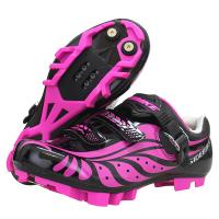China Comfortable Nylon Ladies Cycle Touring Shoes , Female Cycling Shoes Dampproof on sale