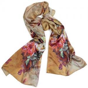 China 2012 new trend type digital printed women 100% silk neckwear/shawl wholesale