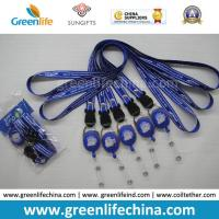 China Breakaway neckwear smooth polyester custom printed satin lanyard and round badge reel holder combo wholesale