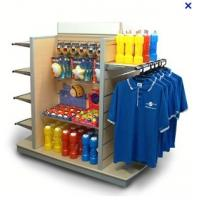 China 4 Way Sports equipment storage racks with hooks, hangers / MDF slatwall display stand wholesale
