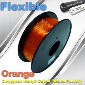 China Orange 3.0mm / 1.75mm Rubber  Flexible 1.0KG / Rolls 3D Printer Filament wholesale