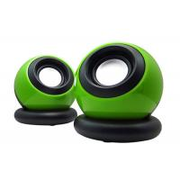 China Multi Function USB Small Computer Speakers 2.0 Green Color 110*90*90mm wholesale